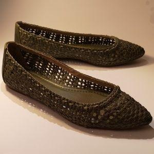 Frye Regina Woven Ballet Flats Women's size 8.5